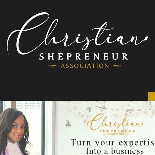 Luxury & Minimalist Logo for Christian Shepreneur Association