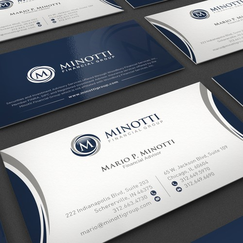 Business card for Financial Advisor