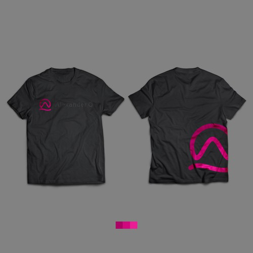 Flat Logo design looks on Tshirt mockup