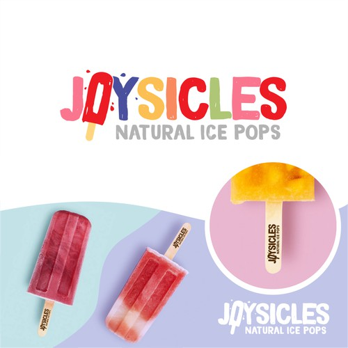 Fresh logo for natural,handmade ice pops company
