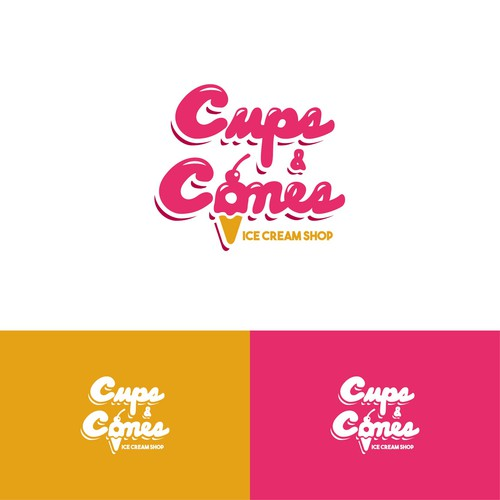 Logo for ice cream shop