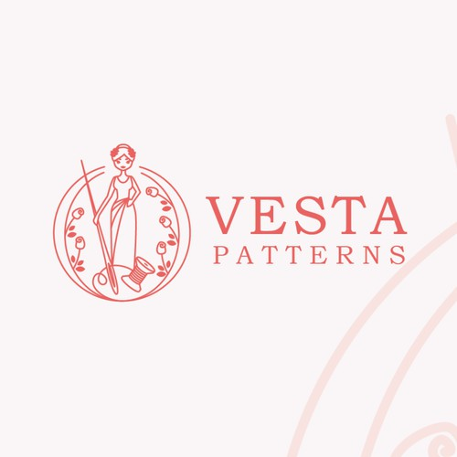 A logo for the domestic goddess: Vesta sewing patterns