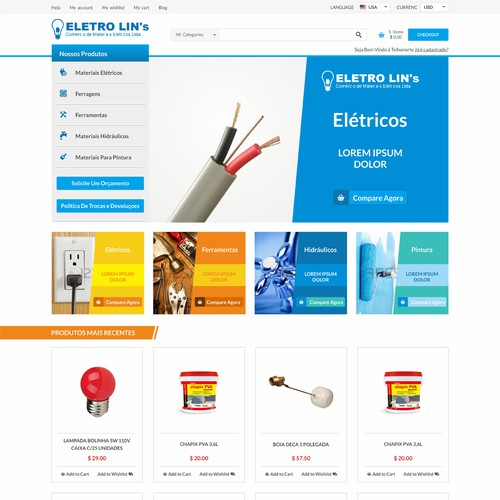 e-commerce website for hardware store
