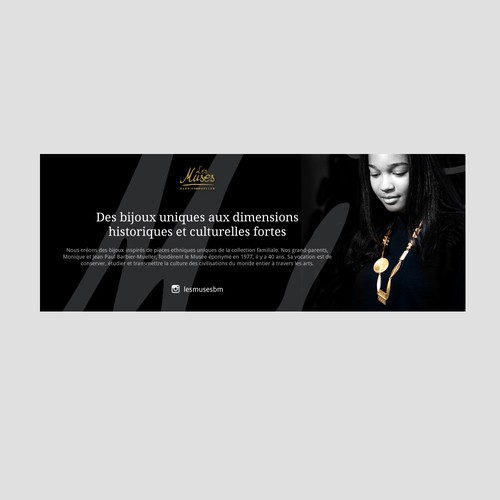 Banner design for a unique jewelry company.