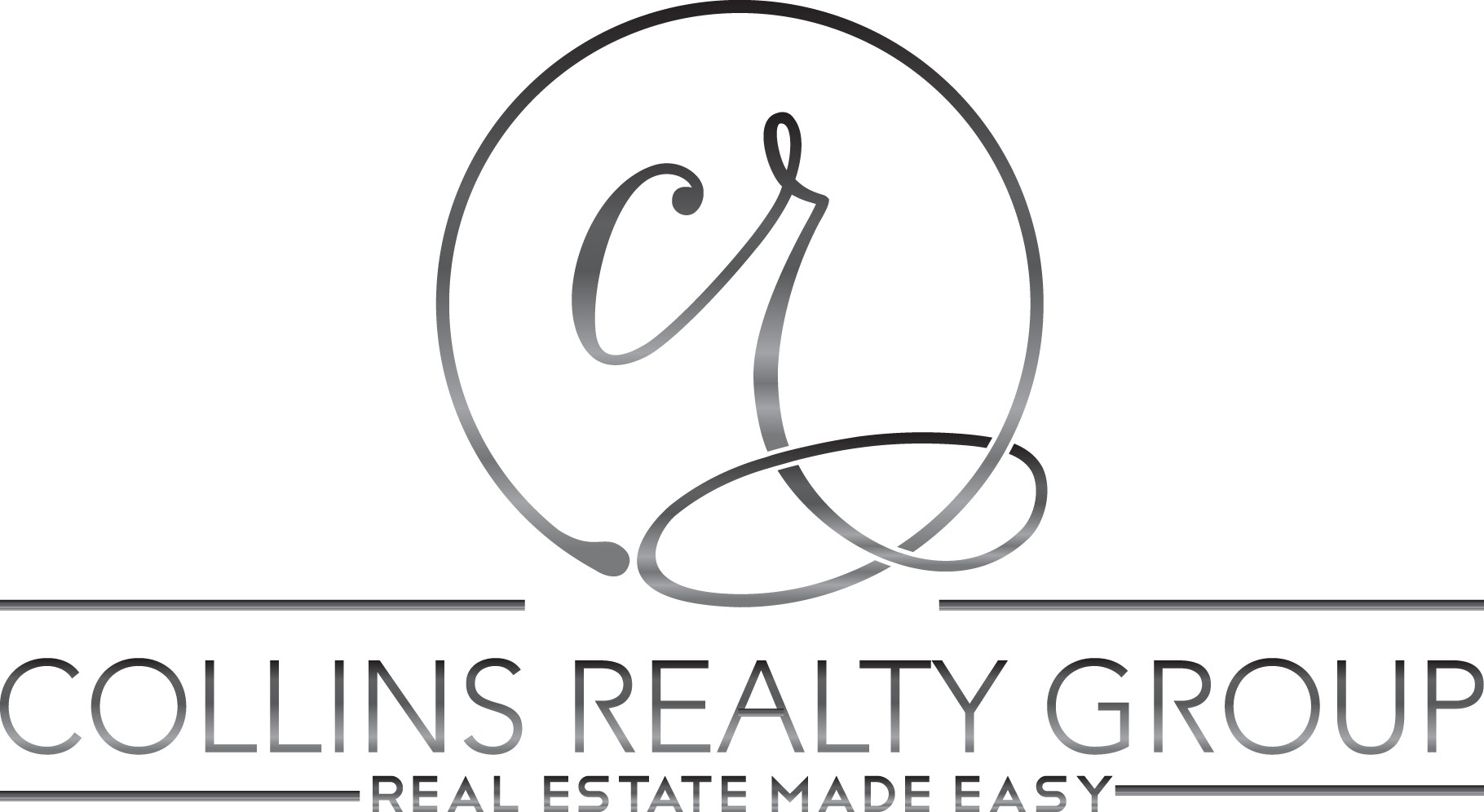 COLLINS REALTY GROUP needs stylish, sleek new logo in a modern font. I prefer monogram script design like my logo now