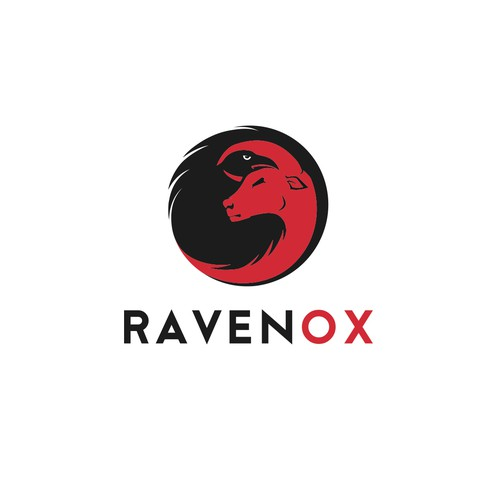 Modern logo for company called Ravenox