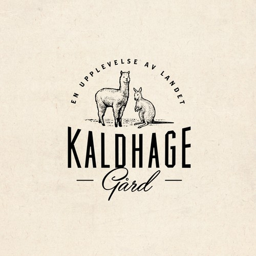 logo for a Swedish countryside Zoo and Cafe