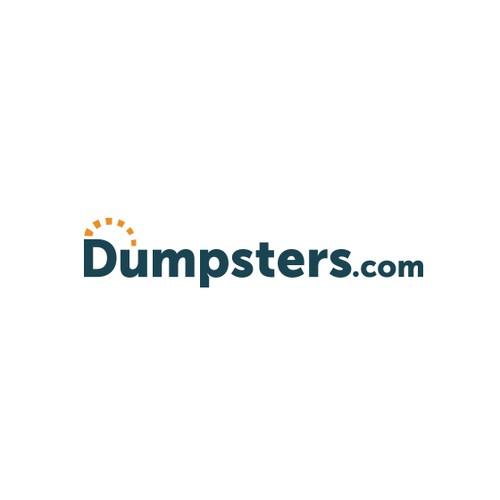 Logo for online dumper rental company