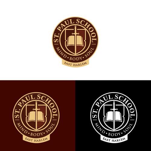 Logo design for a school - St. Paul School