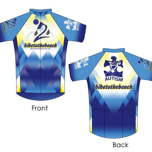 Bike 2 the Beach Cycling Jersey