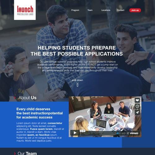Launch academy website