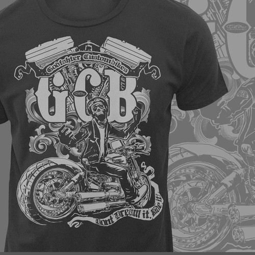 t-shirt design for Godfather Custombikes