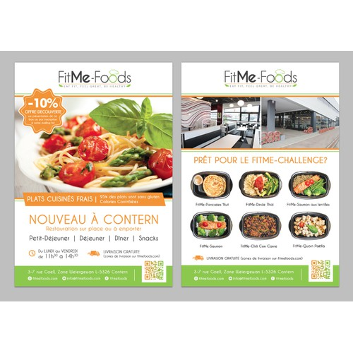 New healthy restaurant, portion & calories controlled, eye catcher, be creative & modern