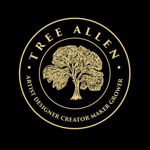 Hand draw tree logo