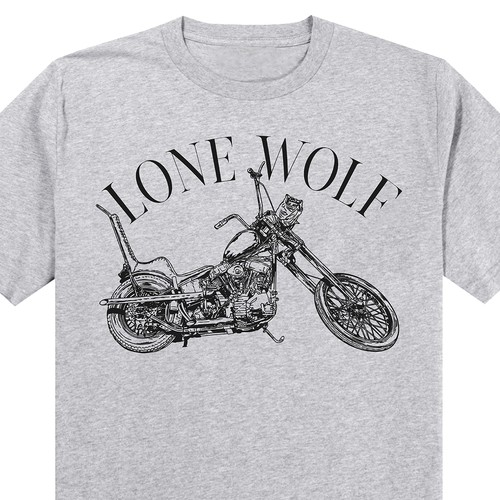 Custom Motor Cycle Shirts sold at a Harley-Davidson dealership