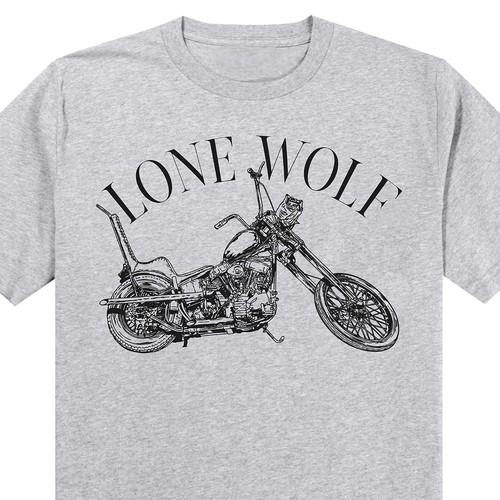 Custom Motor Cycle Shirts sold at a Harley-Davidson dealership