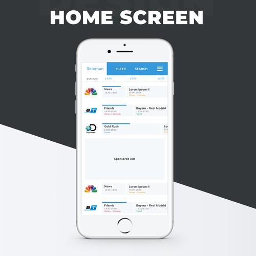 TV listing app