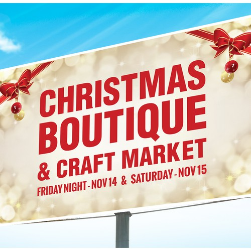Create a Giant Banner for our Christmas Boutique