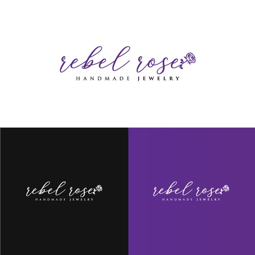 rebel rose ( handmade jewelry ) logo design