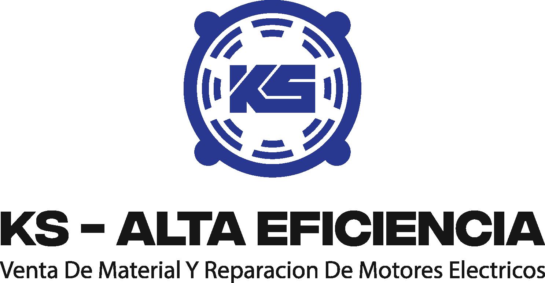 Crear un logo industrial de motores electricos para KS - Alta Eficiencia
