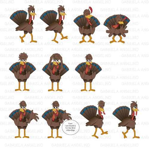 Animation - Turkey Thanksgiving Cartoon