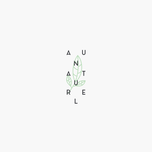 Modern type for Au Naturel.