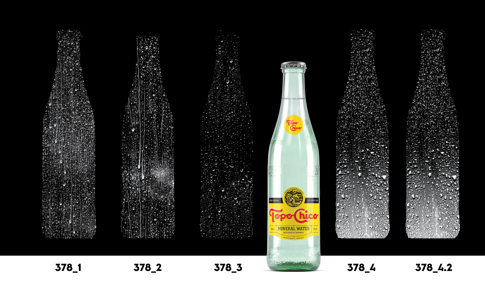 Frosty Transparent Bottle Layer