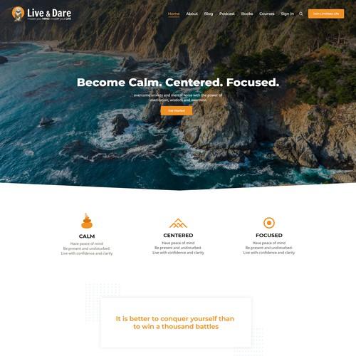 Web Design concept for Live & Dare