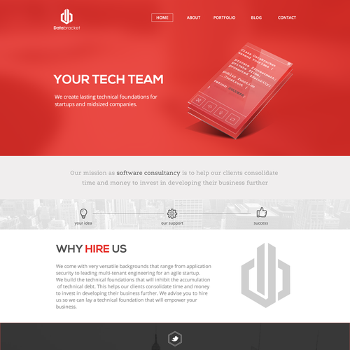 New website design for software consultancy