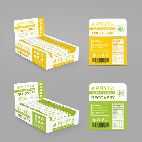 "Box design for Plant Protein Bar ""Phyta"""