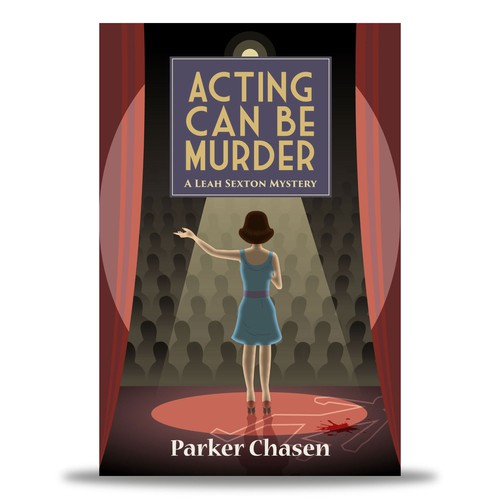 E-Book Cover : Acting Can Be Murder by Parker Chasen