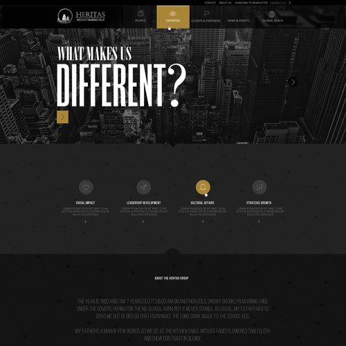 Genius Web Designer Needed for Global Strategy Firm Heritas!