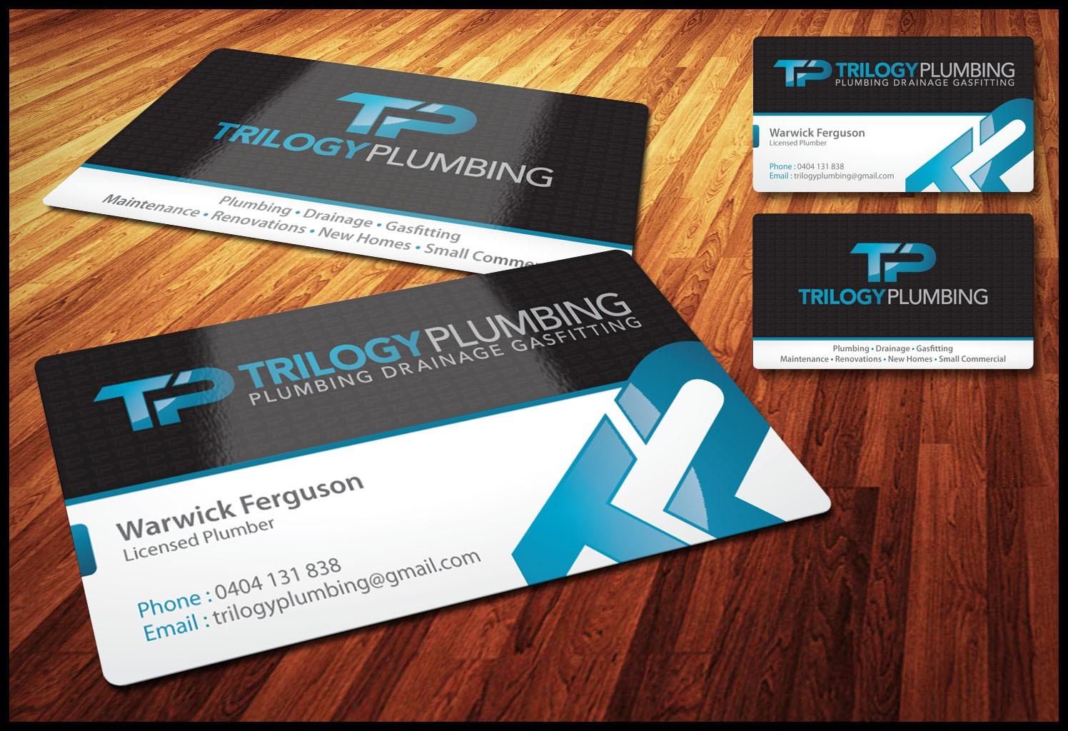 Trilogy Plumbing needs business cards!