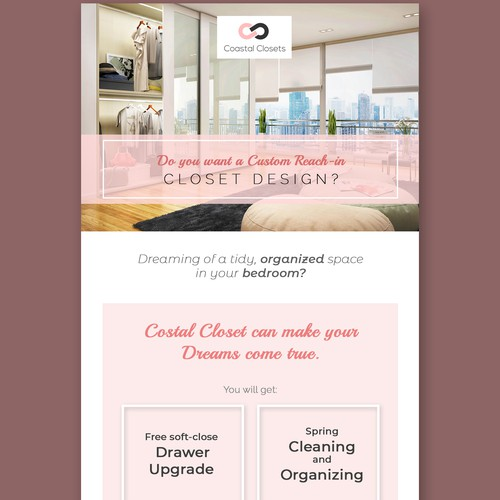 Closet Design Company Email Newsletter