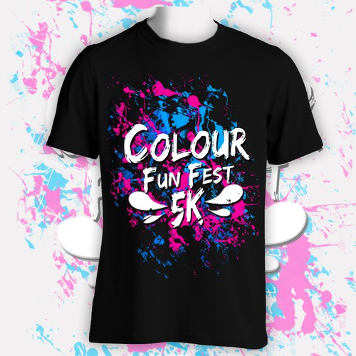 Fun Splash Concept for Colour Fun Festival Tshirt