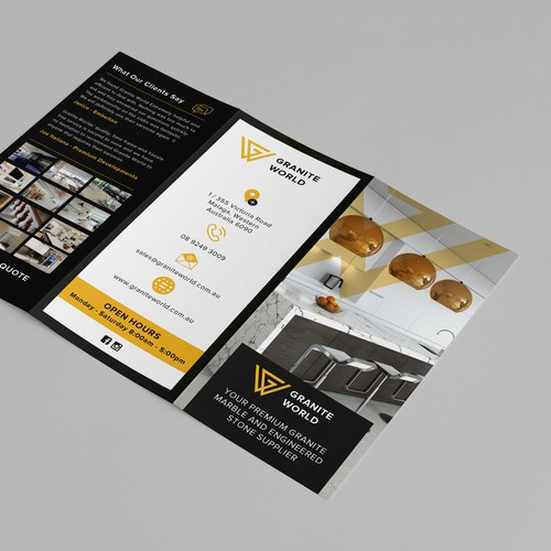 Simple and elegant brochure design for Granite Wolrd
