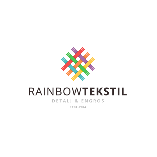 colourful brand identity pack for rainbow tekstil