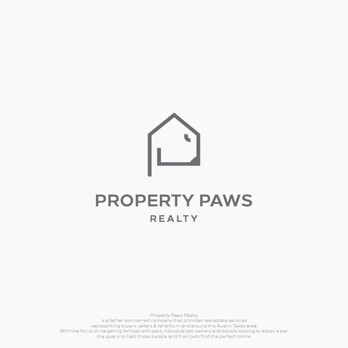 monoline logo for Property Paws Realty