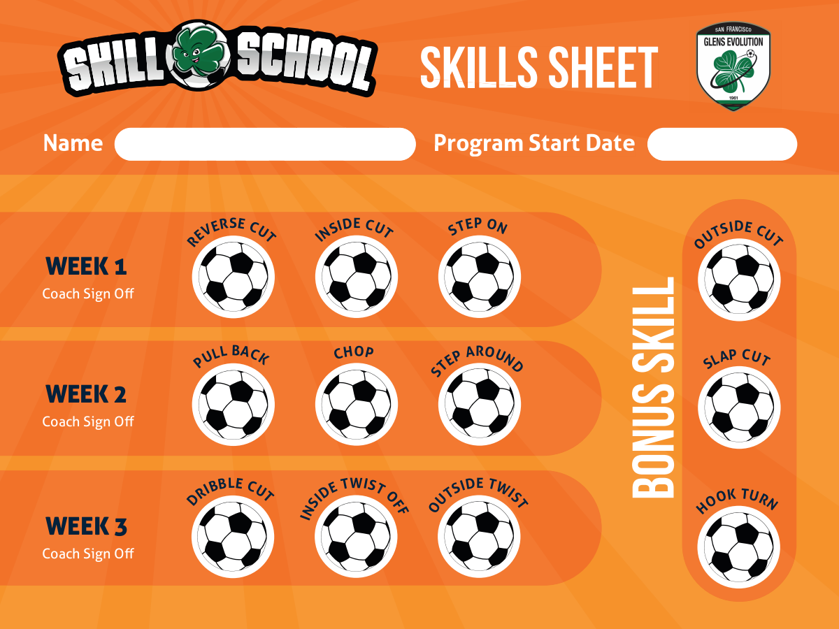Youth soccer skills program