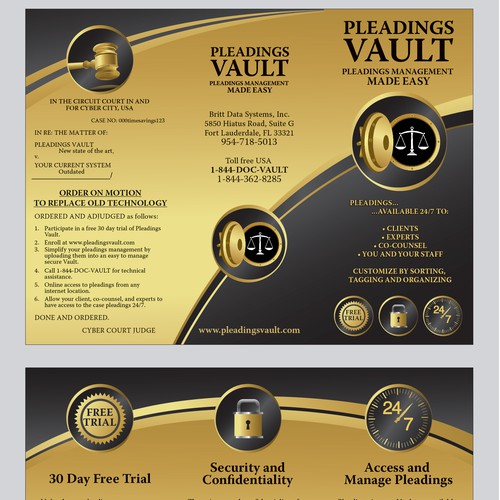 Help us vault to success with a new brochure