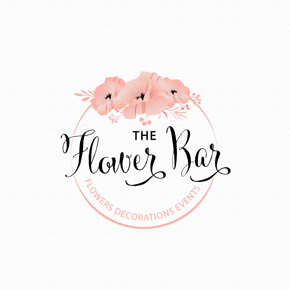 Create a beautiful, vintage and elegant logo for a flower shop