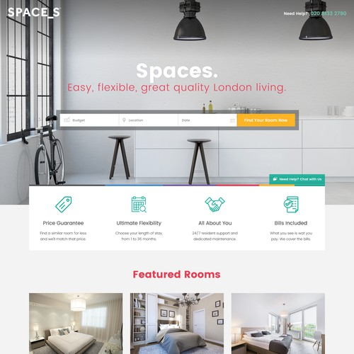 Web design for Spaces