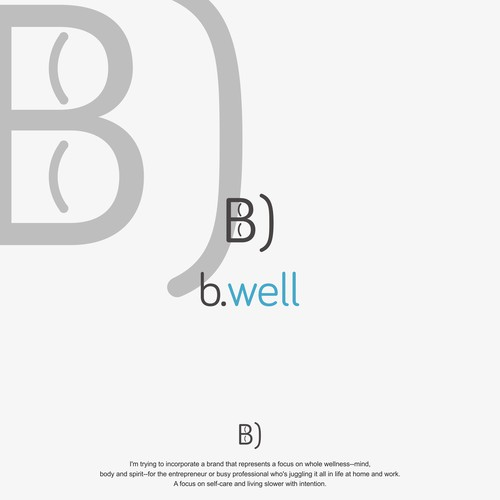 logo concept for b.well