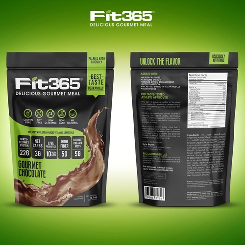 Create New Packing for Top Protein Shake Supplement Brand FIT 365