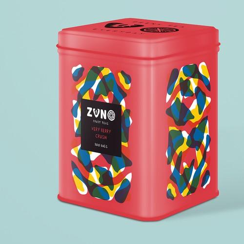 ZUNO Fruit Teas Packaging