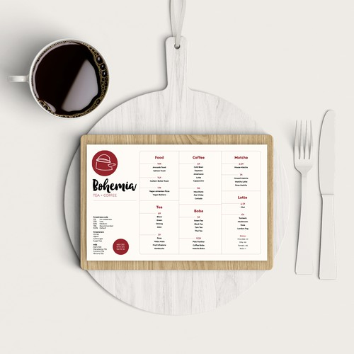 Clean & crisp menu design
