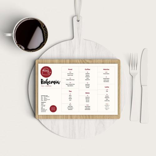 Clean & crisp menu design