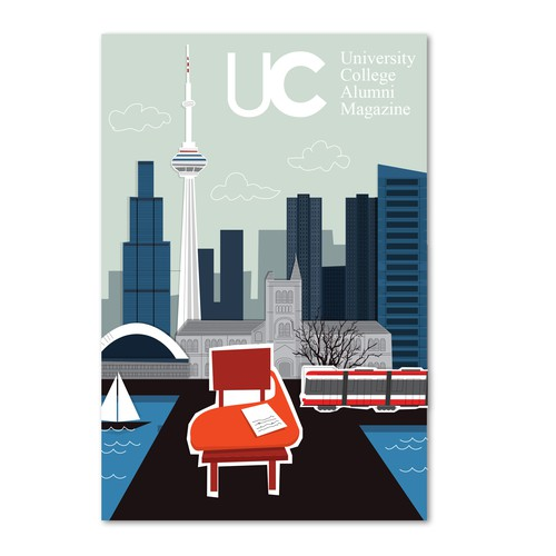 Toronto Drawing for a cover Magazine