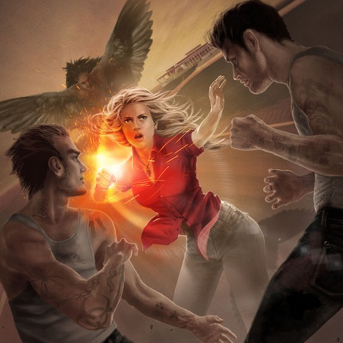 """Book cover art for """"Spark of Justice"""" (Book 1 of Magic City Chronicles)"""