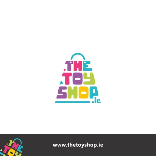 Flat fun logo concept for THE TOY SHOP.ie